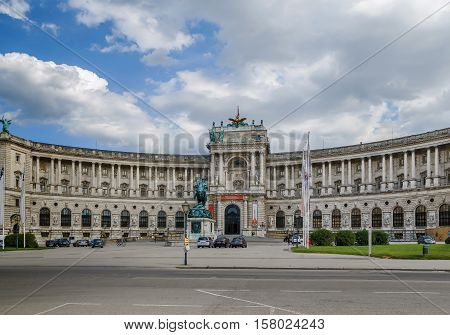 Neue Burg (New Castle) of Hofburg Palace was completed in 1913 Vienna Austria