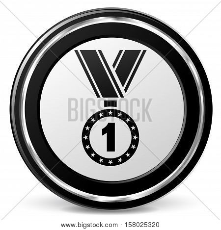 Illustration of medal icon on white background