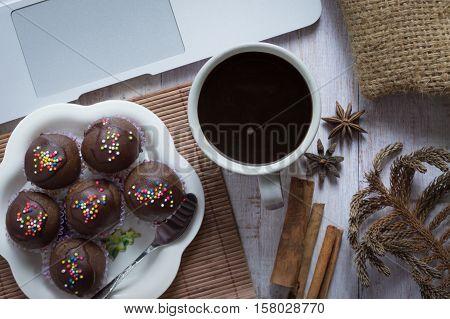 Homemade Delicious Chocolate Cake Ball.