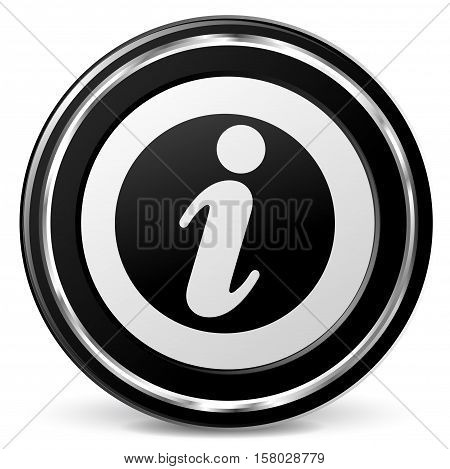 Illustration of information icon on white background