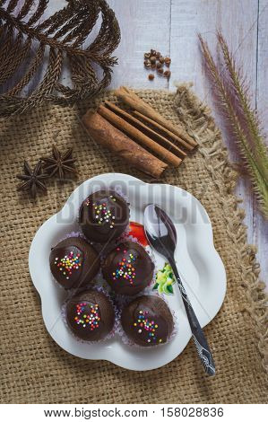 Homemade Delicious Chocolate Cake Ball.