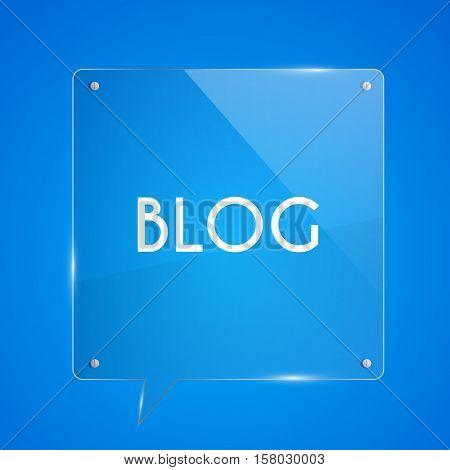 Blog Icon Glass Illustration