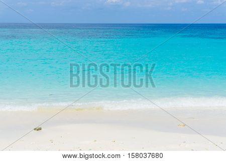 Tropical Sea Beach Blue Sky Sand Sun Daylight