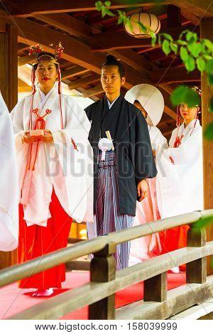 Shinto Wedding Groom Maiden Yushima Tenmangu