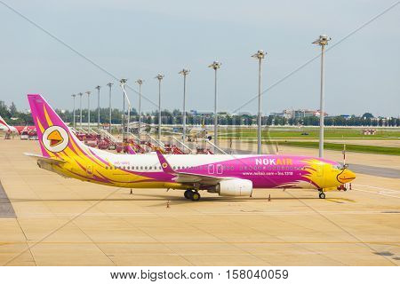 Nok Air Airplane Parked Don Mueang Airport
