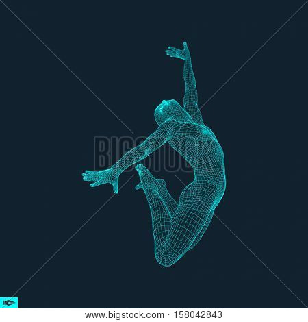 Gymnast. Man. 3D Model of Man. Human Body Model. Body Scanning. View of Human Body. Gymnastics Activities for Icon Health and Fitness Community.