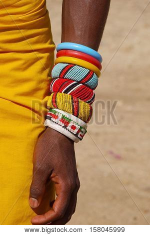 African handcraft made by Maasai-tribe, Tanzania, East-Africa.