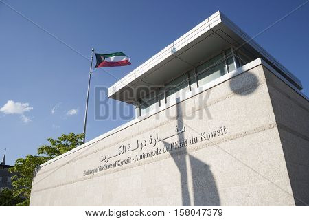 Ottawa, Ontario, Canada - July 18th 2016: Embassy of the State of Kuwait.