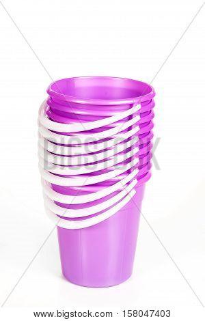 Pink Plastic Buckets