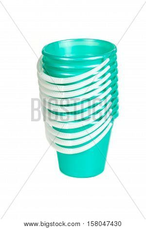 Green Plastic Buckets