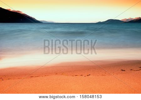 Tidal waves long exposure landscape background hd