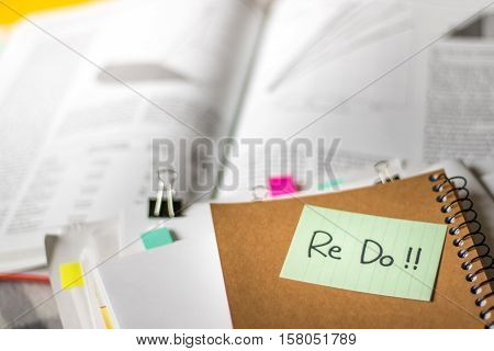 Re Do; Stack Of Documents With Large Amount Of Analytic Material.