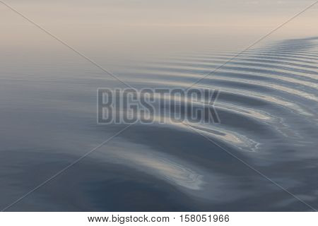 Tranquil and calm sea with light breeze