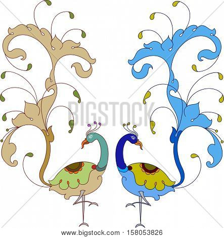 Peacock Artistic Hand Drawn Vector Art