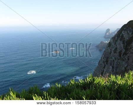 Cabo da roca in October, the westernmost extent of mainland Portugal and continental Europe