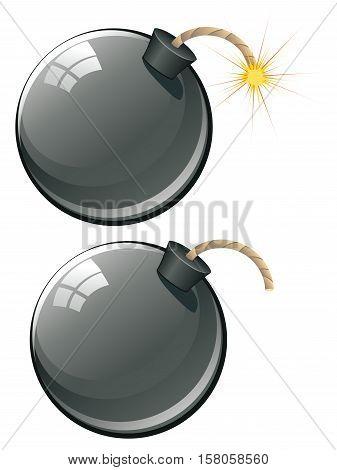 Cartoon Black Bomb
