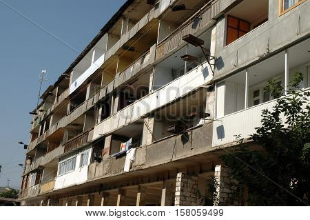 Bombardment Building Ruins In Nagorno Karabakh