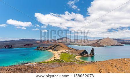 Amazing view in Bartolome Island in the Galapagos Islands, Ecuador