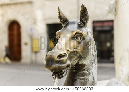Fountain Statue Ascoli Piceno