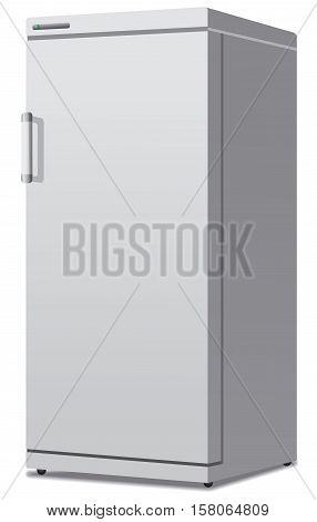 illustration of modern closed  new modern fridge
