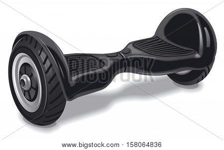 illustration of new electrical black modern gyroboard