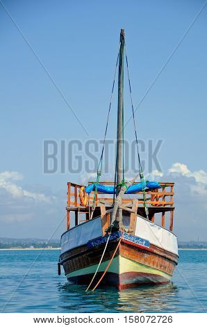 fishermen dhow, local boat used for fishing - Dar es salaam Tanzania