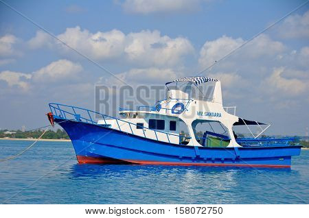 fishermen dhow, local boat used for fishing - Dar es salaam Tanzania
