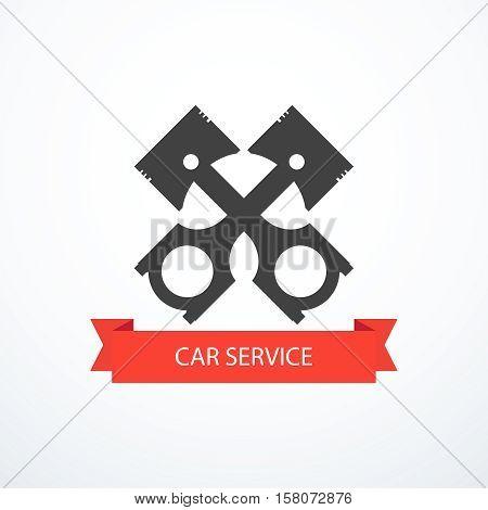 Car service icon. Vector illustration eps 10.