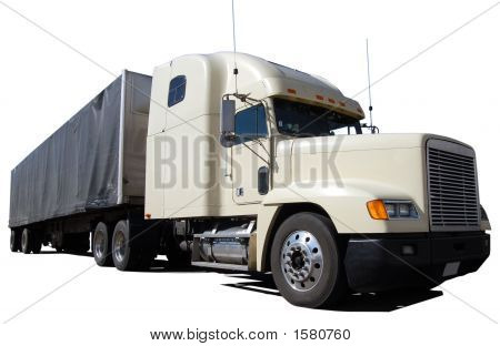 White Long Haul Truck