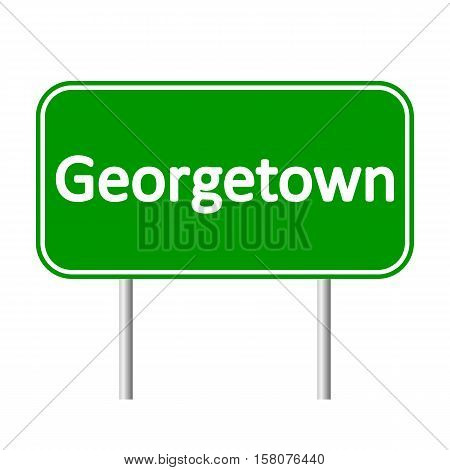 Georgetown road sign isolated on white background.