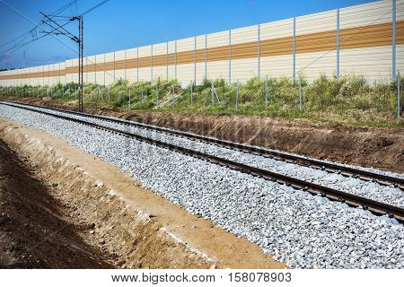 The railway track, outdoor landscape