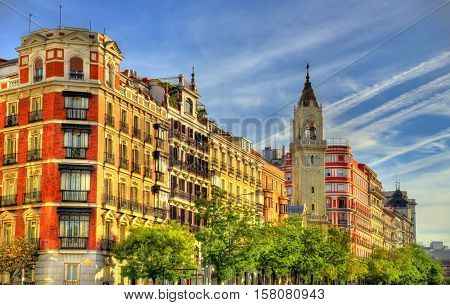 Typical building in the centre of Madrid - Spain