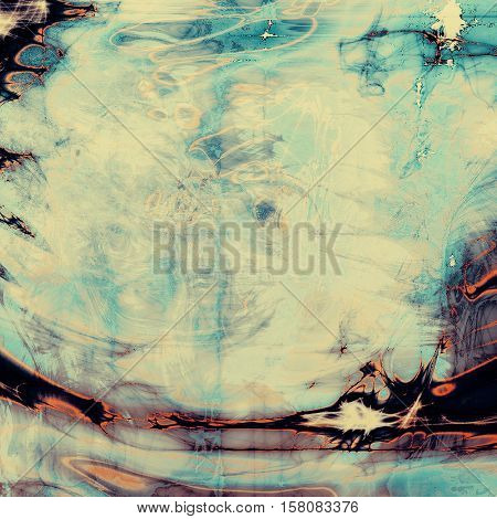 Aged grunge graphic background with shabby texture in vintage style and different color patterns: yellow (beige); blue; red (orange); purple (violet); black; white