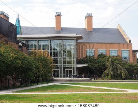 Gettysburg PA USA - October 16 2016: McCreary Science Center on the campus at Gettysburg College
