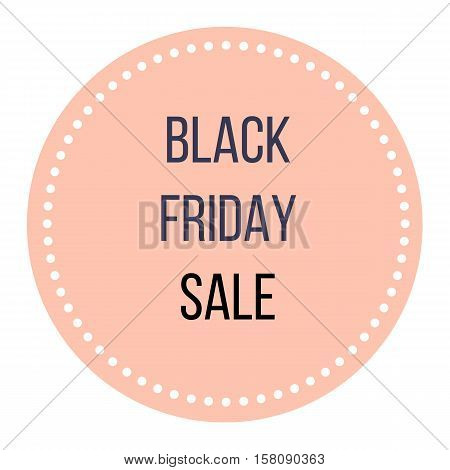 Black Friday sale. Stylish shopping Icon, Sign, Design element for your shop. Marketing creative idea.