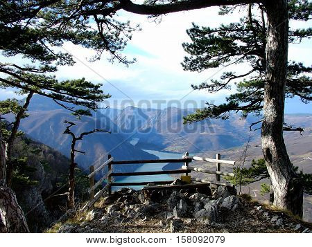 National park Tara in Serbia-Canyon of Drina river, the third deepest canyon in the world-the viewpoint Banjska rock.