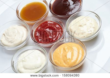 different sauces