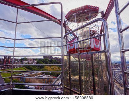 Ferris Wheel In Edinburgh
