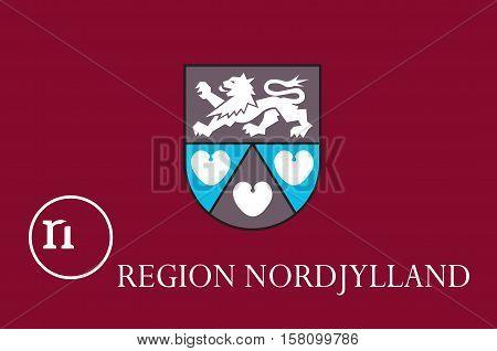 Flag of North Jutland Region of Denmark
