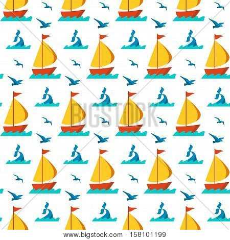 Seamless vector patterns with nautical elements wave collection paper. Ocean sea vector blue texture wallpaper marine seamless patterns. Water nautical element abstract marine seamless patterns.