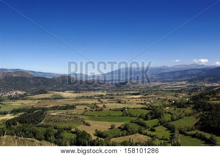 Landscape Pyrenees moutain from Nas LLeida province Spain