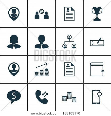 Set Of Hr Icons On Messaging, Money And Tree Structure Topics. Editable Vector Illustration. Include