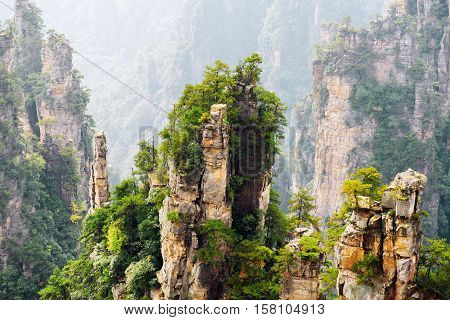 Beautiful View Of Quartz Sandstone Pillars (avatar Rocks)