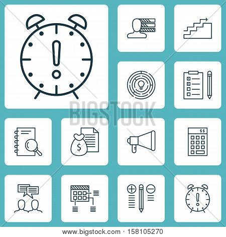 Set Of Project Management Icons On Decision Making, Analysis And Schedule Topics. Editable Vector Il
