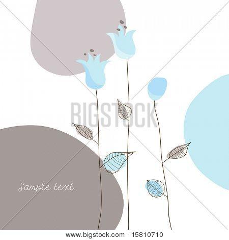Abbildung mit einfachen Blüten. Vektorgrafiken