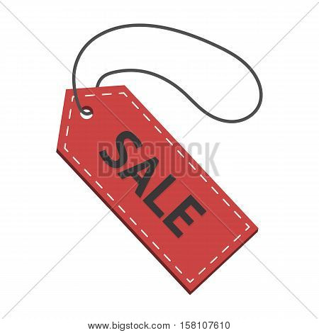 badge with text for sales red with black inscription