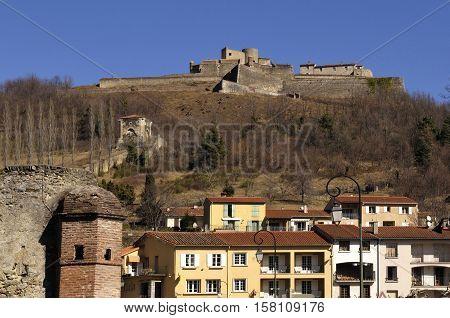 Fort Lagarde and Prats de Mollo Le Preste Village Languedoc Roussillon Pyrenees Orientales France