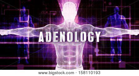 Adenology as a Digital Technology Medical Concept Art 3d Illustration Render