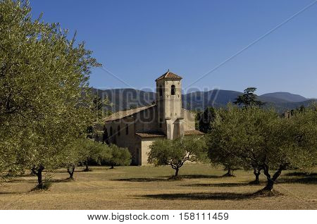Church of Lourmarin  in Provence Alpes Cote d Azur France