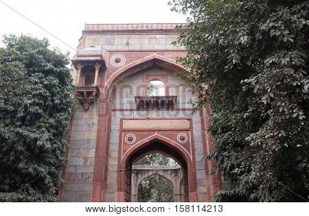DELHI, INDIA - FEBRUARY 13 : Arab ki sarai gateway, Humayun's Tomb complex, Delhi, India on February, 13, 2016